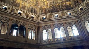 Inside the Baptistry