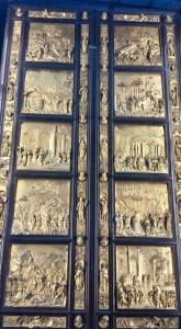 The original doors to the baptistry seen at the Museo dell'Opera di Santa Maria del Fiore