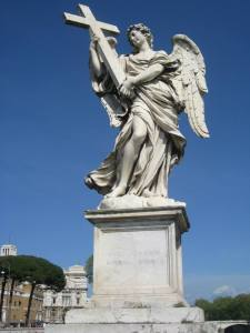 One of the Angel statues on Ponte Sant'Angelo