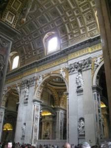 Inside the Basilica di San Pieti